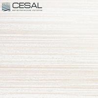 Металлический кассетный потолок с кассетой 300х300мм Cesal 210 Бежевый штрих