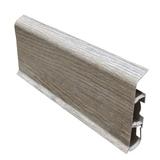 Плинтус 70х22мм напольный пластиковый Идеал Deconika / Деконика Д-П70 215 Дуб снежный (длина-2,2м)