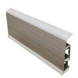 Плинтус 80х22мм напольный пластиковый Идеал Система (Ideal) 253 Ясень серый