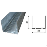 Профиль ГКЛ ППН 28х27мм Стандарт, толщина-0,55мм (длина-3м)