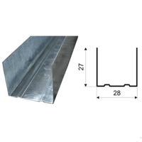 Профиль ГКЛ ППН 28х27мм Эконом, толщина-0,4мм (длина-3м)
