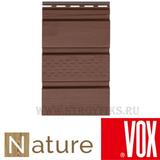 Софит vox nature (вокс натур) дуб темный перфорация по центру (размер:2,7х0,3м)