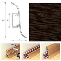 Плинтус 45х21мм напольный пластиковый Ideal / Идеал Альфа А45 301 Венге (длина-2,5м)