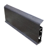 Плинтус 80х22мм напольный пластиковый Идеал Система (Ideal) 352 Каштан серый