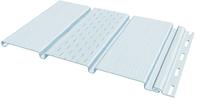 Софит FineBer Белый с центральной перфорацией (Размер:3х0,3м)