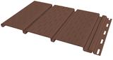 Софит FineBer Могано, Коричневый полностью перфорированный (Размер:3х0,3м)