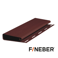 Широкий J-профиль (Наличник) FineBer Могано, Коричневый (длина-3,05м)