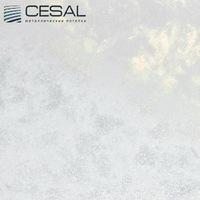 Металлический кассетный потолок с кассетой 300х300мм Cesal 511 Белый мрамор