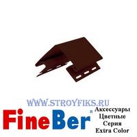 Узкий наружный угол 50мм FineBer Могано, Коричневый (длина-3,05м)