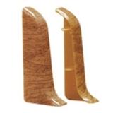 Заглушка в цвет плинтуса Идеал Альфа А45 45х21мм (Пара - 1 левая + 1 правая) (18цветов)