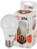 Светодиодная (LED) Лампа Е27 Груша 11Вт 880Лм 2700К Теплый свет Эра LED A60-11W-827-E27 Матовая колба