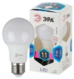 Светодиодная (LED) Лампа Е27 Груша 11Вт 880Лм 4000К Белый свет Эра LED A60-11W-840-E27 Матовая колба