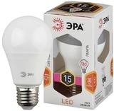 Светодиодная (LED) Лампа Е27 Груша 15Вт 1200Лм 2700К Теплый свет Эра LED A60-15W-827-E27 Матовая колба