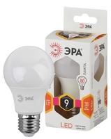 Светодиодная (LED) Лампа Е27 Груша 9Вт 720Лм 2700К Теплый свет Эра LED A60-9W-827-E27 Матовая колба