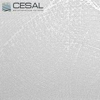 Металлический кассетный потолок с кассетой 300х300мм Cesal В29 Шёлк белый