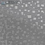 Металлический кассетный потолок с кассетой 300х300мм Cesal В32 Мозайка металлик