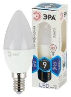 Светодиодная лампа Е14 Свеча 9Вт 720Лм 4000К Белый свет Эра LED B35-9W-840-E14 Матовая колба