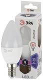 Светодиодная лампа Е14 Свеча 9Вт 720Лм 6000К Холодный свет Эра LED B35-9W-860-E14 Матовая колба