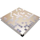 Металлический кассетный потолок с кассетой 300х300мм Cesal B38 Мозайка золотая