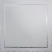 Металлический кассетный потолок с кассетой 300х300мм Cesal 050D Жемчужно-белый с патиной