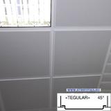 Металлический кассетный потолок с кассетой Tegular 45° Белая Перфорированная d=1,8мм 595х595мм