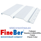 Сайдинг FineBer Standart Белый 3,66х0,205м