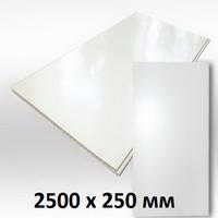 Панель ПВХ 2,5х0,25м Белая матовая