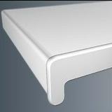 Подоконник пластиковый ПВХ FineDek Белый матовый. Ширина 10см (100мм)