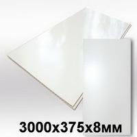 Панель ПВХ 3х0,375м Белая матовая