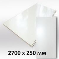 Панель ПВХ 2,7х0,25м Белая матовая