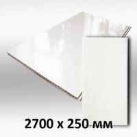 Панель ПВХ 2,7х0,25м Белая глянцевая
