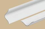 Бордюр на ванну универсальный ПВХ Идеал 001-G Белый Глянцевый с мягкими краями (длина-2м)