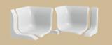 Набор комплектующих бордюра на ванну универсального ПВХ Идеал 001-G Белый Глянцевый