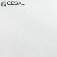 Металлический кассетный потолок с кассетой 300х300мм Cesal С01 Жемчужно-белый