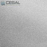 Металлический кассетный потолок с кассетой 300х300мм Cesal С02 Металлик серебристый