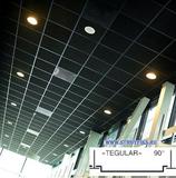 Металлический кассетный потолок с кассетой Tegular 90° Черная матовая 595х595мм