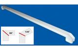 Соединитель ПВХ на стык 90° и 135° Белый 70см (700мм) к подоконнику Danke