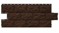 Фасадная панель Фасайдинг Дачный (Fineber) Доломит Темно-коричневый (1080х452мм)