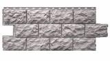 Фасадная панель Фасайдинг Дачный (Fineber) Доломит Светло-серый (1080х452мм)