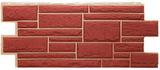 Цокольный сайдинг т-сайдинг дикий камень бордовый (красный) 3009 техоснастка