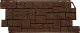 Фасадная панель FineBer Камень дикий Коричневый (1117х463мм)