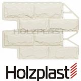 Фасадная панель Holzplast Wandstein Доломит Белый Бесшовный (795х595мм)