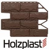 Фасадная панель Holzplast Wandstein Доломит Темно-коричневый Бесшовный (795х595мм)