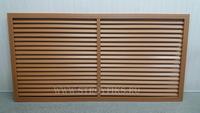 Решетка радиаторная ПВХ 1200х600мм Дуб