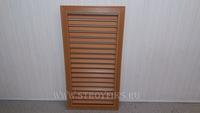 Решетка радиаторная ПВХ 300х600мм Дуб вертикальная