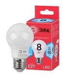 Светодиодная (ECO LED) Лампа Е27 Груша 8Вт 560Лм 4000К Белый свет Эра ECO LED A55-8W-840-E27 Матовая колба