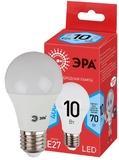 Светодиодная (ECO LED) Лампа Е27 Груша 10Вт 700Лм 4000К Белый свет Эра ECO LED A60-10W-840-E27 Матовая колба
