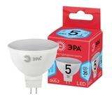 Лампа светодиодная (ECO LED) GU5.3 MR16 5Вт 4000K Белый свет Эра ECO LED MR16-5W-840-GU5.3 Матовая колба