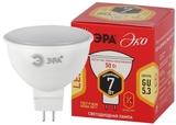 Лампа светодиодная (ECO LED) GU5.3 MR16 7Вт 2700K Теплый свет Эра ECO LED MR16-7W-827-GU5.3 Матовая колба
