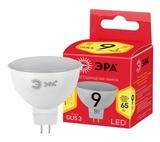 Лампа светодиодная (ECO LED) GU5.3 MR16 9Вт 2700K Теплый свет Эра ECO LED MR16-9W-827-GU5.3 Матовая колба